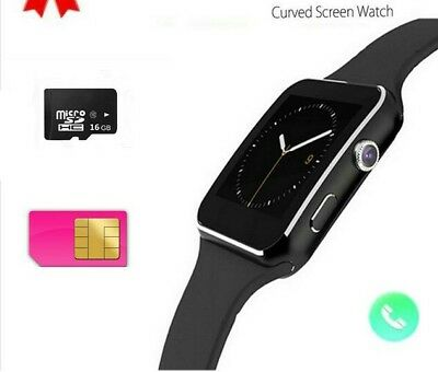 Q18 Smart Watch Support Sim TF Card Phone Call text Camera For IOS Android GOLD