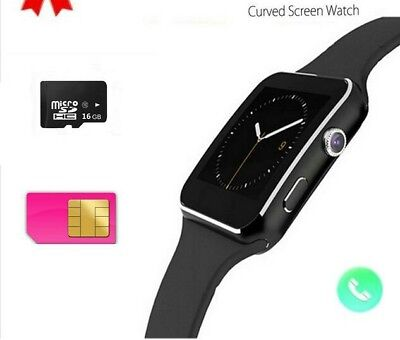 X6 Smart Watch Support Sim TF Card Phone Call text Camera For IOS Android GOLD