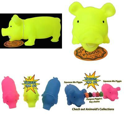 Glow In The Dark Squeeze Me And Oink Piggie By Animolds Size 8 Inch Different Co