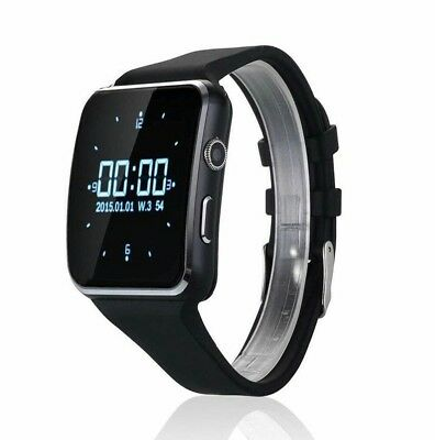 X6 Smart Watch Support Sim TF Card Phone Call text Camera For IOS Android BLACK