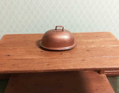 Dollhouse Miniature Large Oval Baking Platter Removable Lid 1:12 Scale Kitchen