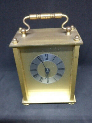 Vintage Brass Quartz Carriage Clock Batttery Operated Good Weight To It