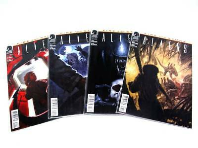 Dark Horse Aliens Fire And Stone Complete Set 1-4 Near Mint