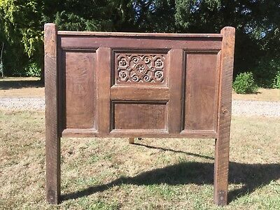 Oak Carved Headboard