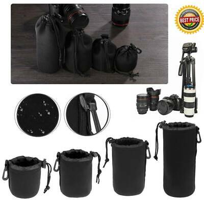 Waterproof DSLR Camera Lens Soft Protector Pouch Bag S M L XL Case Cover US