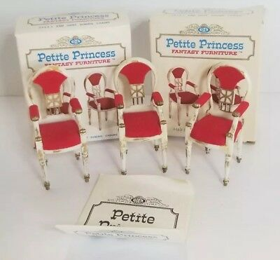 Petite Princess Fantasy Host Dining Chairs 3 Chairs w/Boxes Ideal Vintage