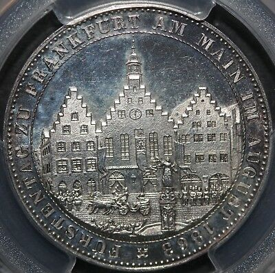 1863 Germany Frankfurt Thaler Princes PCGS MS66 (Only 12 In MS66)