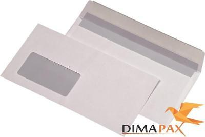 3000 Envelopes Din Long 110 x 220 mm Self-Adhesive 80g/M ² with Window White