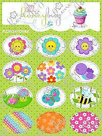 Honeybug Sprinkles Sweetheart Pacifier/Dummy Flower Power Stickers Reborn Baby