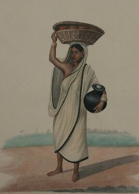 Milk woman from a wealthy European household, Karraya, Classic Indian Art Poster