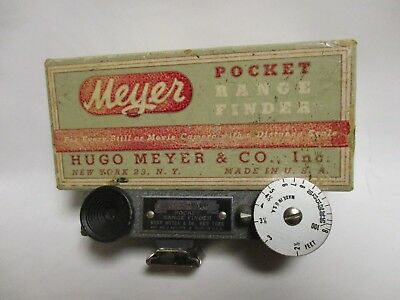Hugo Meyer pocket rangefinder unit with box