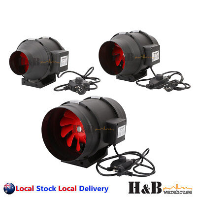 """4"""" 6"""" 8 """" Inline Fan In line Ventilation Tube Duct Stepless Speed Controller"""