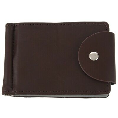 Ultra-thin Slim Men Leather Money Clip Wallets ID Credit Card Holder Coin P J3K2