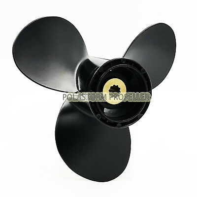 Aluminum Outboard Propeller 9 1/4x11P for Suzuki Prop 8-20HP 58100-93743-019 .