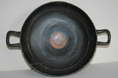 ANCIENT GREEK POTTERY KYLIX WINE CUP 4th CENTURY BC