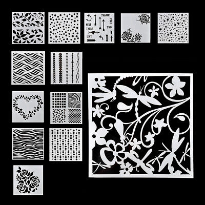 13pcs/set Embossing Template Scrapbooking Walls Painting Layering Stencils