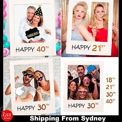60X80CM Photo Booth Props Frame Paper Picture Birthday Party Wedding Selfie Deco