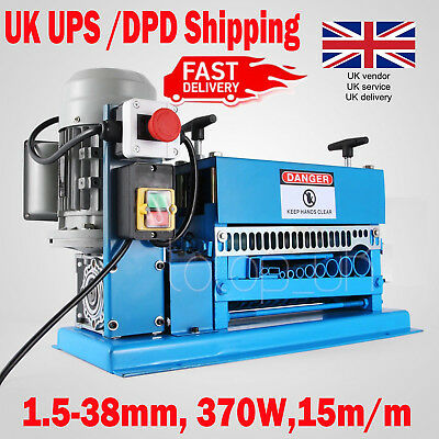 Powered Wire Stripping Machine 1.5-38mm 10 Blades Stripper Peeler Metal Cable UK