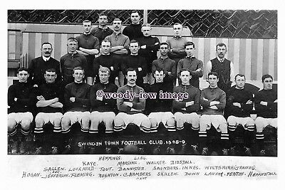 "rs1141 - Swindon Town Football Team 1908-1909 - photograph 6""x4"""