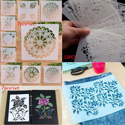 DIY PVC Embossing Craft Template Wall Painting Layering Stencils Scrapbooking