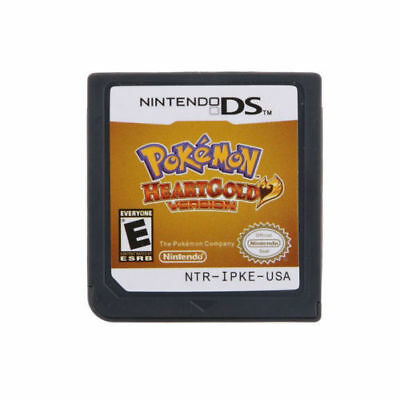 Pokemon HeartGold Game Card Soul Silver For 3DS NDSI NDS NDSL Lite2 US Version