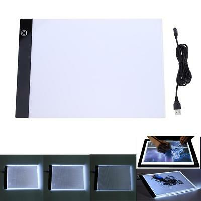 LED Artist Thin Type Stencil Drawing Board Light Tracing Table Pad + USB Cable