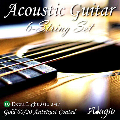 Adagio AntiRust Acoustic Guitar Strings Gauge 10-47 Full Pack