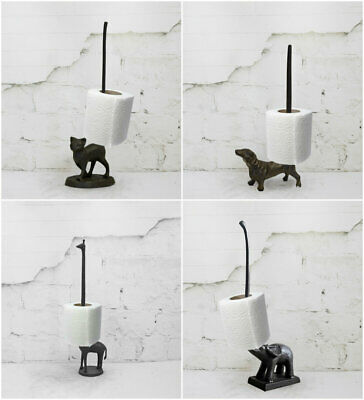 Cast Iron Animal Toilet Roll Holders Free Standing Novelty Kitchen Roll Holders
