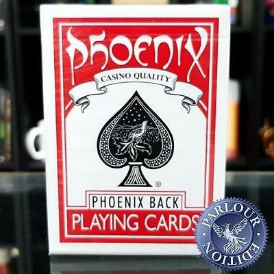 Phoenix Playing Cards Red Parlour Edition Magicians Deck by Card Shark