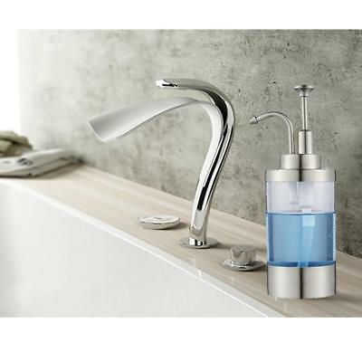 Foaming Soap Dispenser Countertop Bottle Stainless Steel Bathroom Kitchen