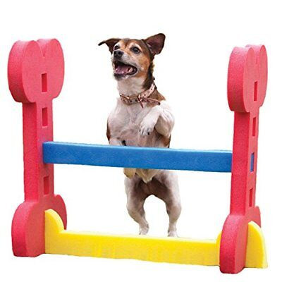Rosewood Small Dog Animal Agility Exercise Hurdle Rigid Foam Height Adjustable