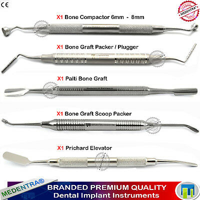 Implant Surgery Bone Packer Compactors Palti Scoop Pluggers Periosteal Elevators