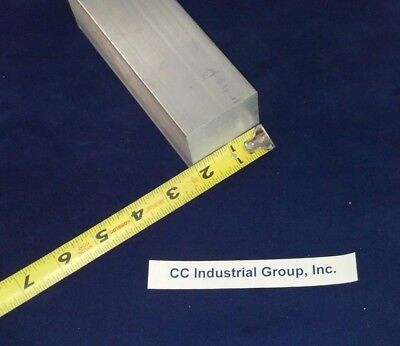 """2"""" x 2"""" x 5"""" Long ALUMINUM SOLID SQUARE STOCK 6061 T6511 - NEW MILL STOCK"""