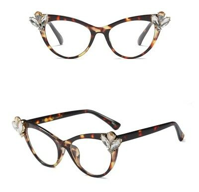 3ec7074f5b Eyeglasses rhinestone cat eye glasses frames women brand designers 2018  luxury