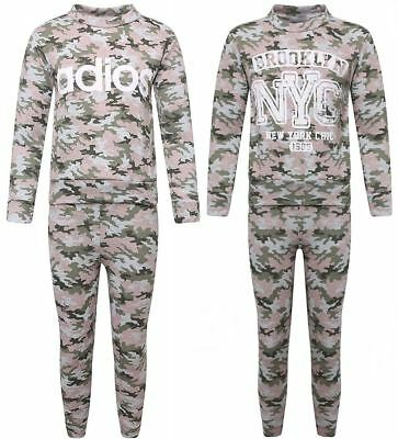 Children Camouflage Knitted Fancy Tracksuit Kids Long Sleeve Casual Wear Suit