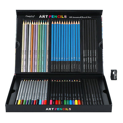 60x New Professional Watercolor Colored Pencils SET Drawing Paint Art Supplies