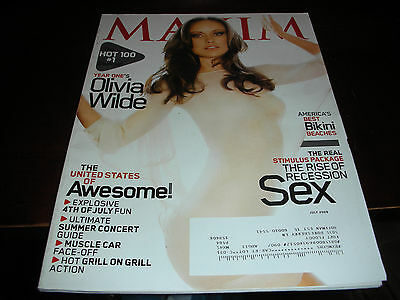 Maxim Magazine #139 July 2009 Hot 100 #1 Stunner Olivia Wilde Cover Girl