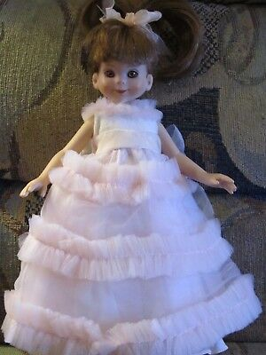 Betsy McCall PINK RUFFLED PARTY Gown, VERY CUTE! complete excellent condition!