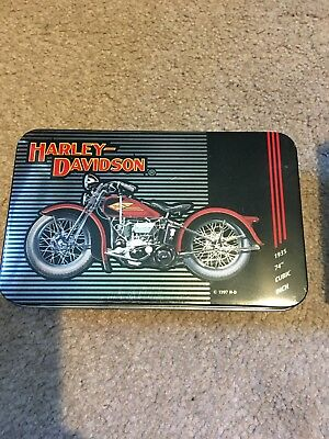 Harley Davidson Historical Playing Cards In Tin 1903 - 1950 And Collectors Card