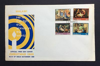 Malawi 1966 FDC First Day Cover Christmas stamps SG 305-309