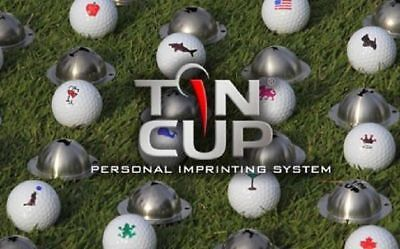 New Collection Tin Cup Golf Ball Marker Align Up Putting