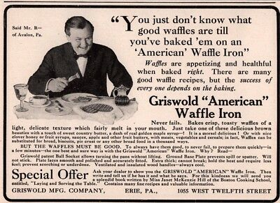 1909 D Ad Griswold Waffle Iron
