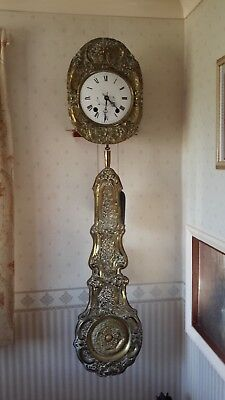 Morbier Pendulum Clock Antique