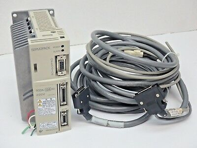 Yaskawa Electric SGDA-04AS Servo Pack SGDA04AS W/Cables
