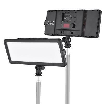 Andoer CM-280D CRI93 Super Slim LED Video Light Panel 3200K-5600K Bi-Color 16W