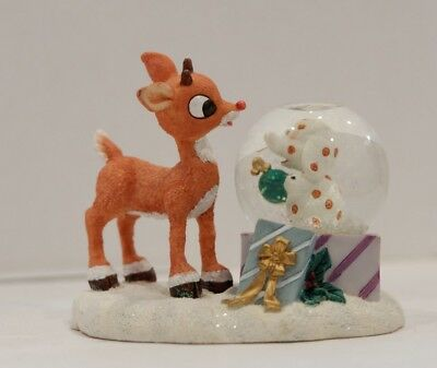 Enesco Snow Globe Rudolph The Red Nosed Reindeer Waterball 597139
