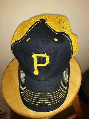 new product 57e9b f7c93 low price pittsburgh pirates gold mesh hat mlb taylor closer cap 47 brand  mens 29117 e342d