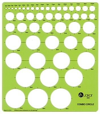 Jakar Template Combo Circle Circumference Stencil Compass Aid Round Dot - 4646