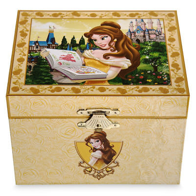 Disney Parks Belle Beauty And The Beast Musical Jewelry Box New Boxed Fast