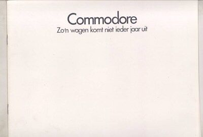 1972 Opel Commodore & GS Brochure Art Fitzpatrick Dutch wz6400